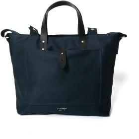 BAAN BROWN 904 Middle Tote Bag (ネイビー)