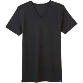COOLMAJIC メッシュ VネックTシャツ ブラック LL gz021