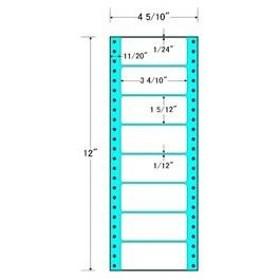 【在庫目安:お取り寄せ】東洋印刷  MM4A タックフォームラベル 4 5/ 10インチ×12インチ 8面付(1ケース1000折)