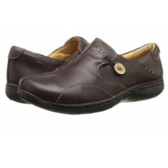 Clarks クラークス レディース 女性用 シューズ 靴 ローファー ボートシューズ Un.loop Dark Brown Leather【送料無料】