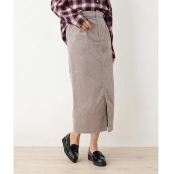 OPAQUE.CLIP / オペーク ドット クリップ 【34(SS)、42(LL)WEB限定サイズ】コーデュロイタイトスカート