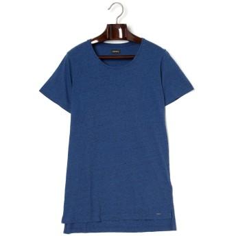 【57%OFF】ラウンドネック メランジ 半袖Tシャツ ブルー s