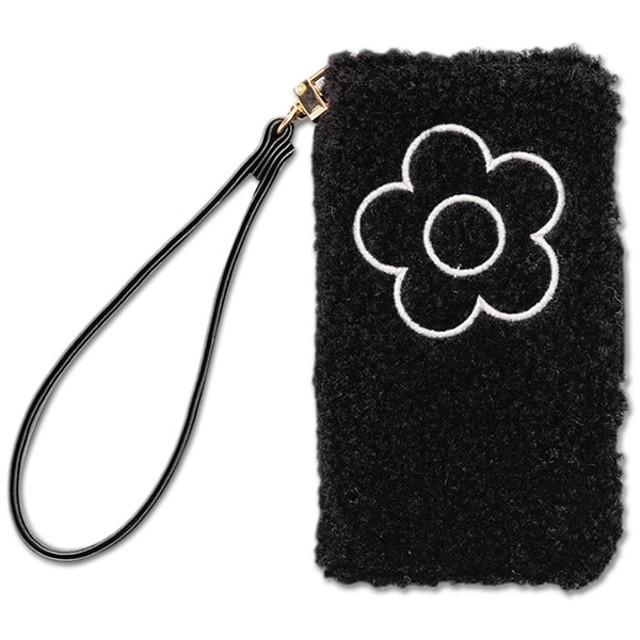 【マリークヮント/MARY QUANT】 ボアデイジー刺繍 モバイルケースfor iPhone7/8