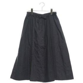 サマンサ モスモス アウトレット Samansa Mos2 outlet レース&刺繍切替スカート (ネイビー)