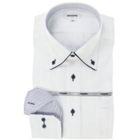 (TAKA-Q/タカキュー)イージーケア レギュラーフィット ボタンダウン長袖シャツ/メンズ ホワイト