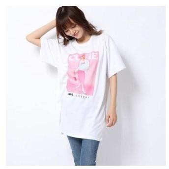 エックスガール X-girl X-girl x LABRAT CUTIE S/S TEE (WHITE)
