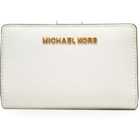 マイケルコース MICHAEL KORS 財布 二つ折り財布 折り財布 レディース ミニ財布 ホワイト アウトレット ブランド 35t9rtvf2l-opwh