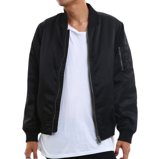 インプローブス MA-1 メンズ MA1 エムエーワン 中綿 ナイロン ジャケット フライトジャケット ジャンパー ジャンバー ブルゾン 黒 紺 アウター ブラック S サイズ