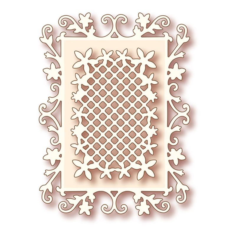 SD004藝術刀模-花朵框架(雙刀框)