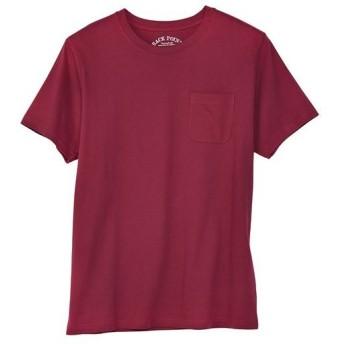 【レディース】 オーガニックコットン100%素材のクルーネックTシャツ(半袖) - セシール ■カラー:バーガンディワイン ■サイズ:LL,3L,5L,7L,S,M,L