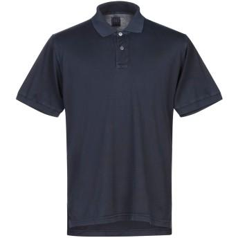 《セール開催中》FEDELI メンズ ポロシャツ ダークブルー 46 コットン 100%