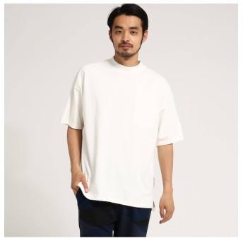【ベース ステーション/BASE STATION】 ビッグシルエット モックネック 半袖 Tシャツ