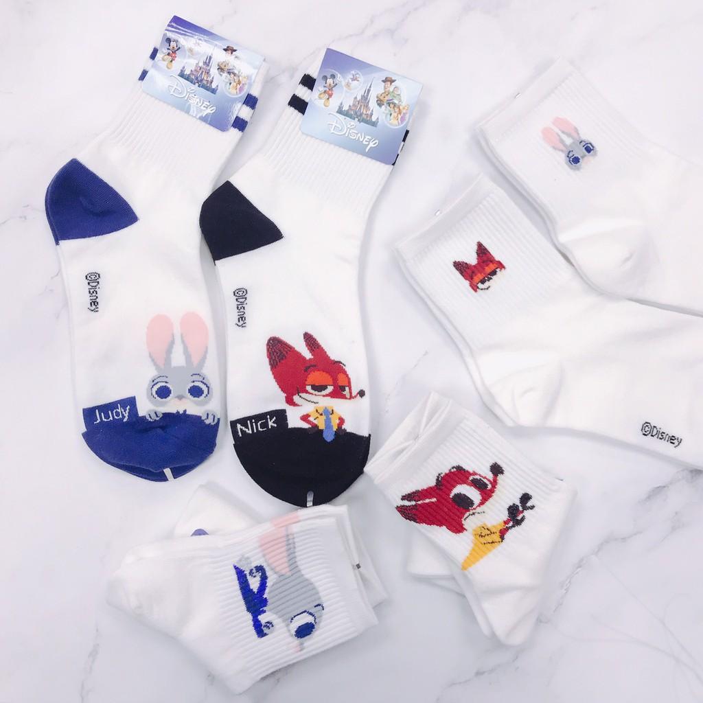Disney 迪士尼 動物方程式 zootopia 韓國襪子 NICK 尼克 JUDY茱迪 動物方程市