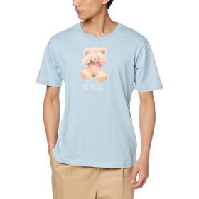 [ウィゴー] WEGO ベア モチーフ T シャツ 半袖 2 S サックス メンズ