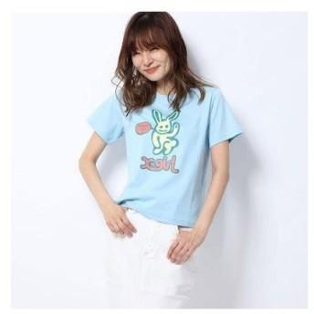 エックスガール X-girl X-girl x LABRAT BUNNY S/S BABY TEE (BLUE)