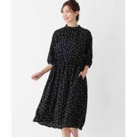 SHOO・LA・RUE / シューラルー ハイネックレトロ柄七分袖ワンピース