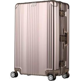 [アウトレット] スーツケース キャリーケース キャリーバッグ アルミ ダブルキャスター L サイズ 大型 【B-1510-70】 シルバー