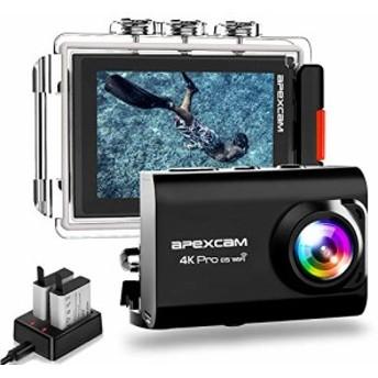 【進化版】Apexcam pro EIS アクションカメラ 4K高画質 2000万画素 40M防水水中カメラ 手振れ補・・・