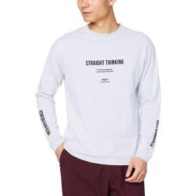 [ウィゴー] WEGO シンプル ロゴ プリント ロン ロング T シャツ L ホワイト その他 メンズ