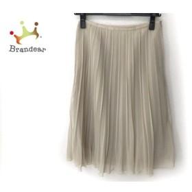 ギャラリービスコンティ スカート サイズ2 M レディース 美品 ベージュ プリーツ 新着 20190830