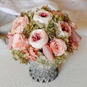 プリザーブドフラワーアレンジメント ラウンド pink rose