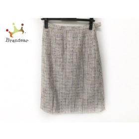 ギャラリービスコンティ スカート サイズ2 M レディース 美品 白×ダークブラウン×マルチ   スペシャル特価 20191206