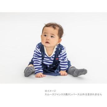 ベビーザらス限定 POLO スムースジャンスカ風ロンパース(ネイビー×70cm)【送料無料】