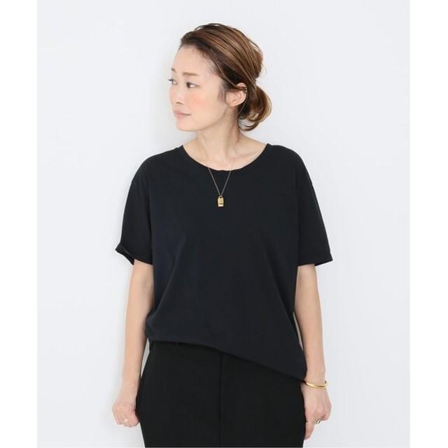 Deuxieme Classe ◇ROUND NECK Tシャツ ブラック フリー