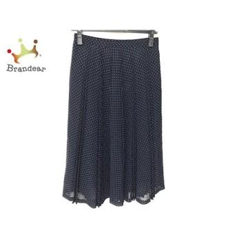 ギャラリービスコンティ スカート サイズ2 M レディース 美品 ダークネイビー×白 新着 20190830