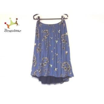 ジユウク 自由区/jiyuku スカート サイズ40 M レディース 美品 ブルーグレー×ベージュ×マルチ 新着 20190830