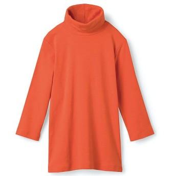 60%OFF【レディース】 UVカットルーズネックTシャツ(七分袖)(綿100%・2丈展開・S-5L) - セシール ■カラー:ファッションオレンジ ■サイズ:M,S
