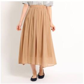 【デッサン/Dessin】 【洗える】キュプラコットンボイルスカート