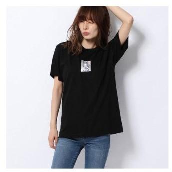 エックスガール X-girl HOLOGRAM BUNNY S/S REGULAR TEE (BLACK)