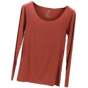 Nicellyer 女性はベース層シームレススクープネック竹繊維Tシャツ Orange M