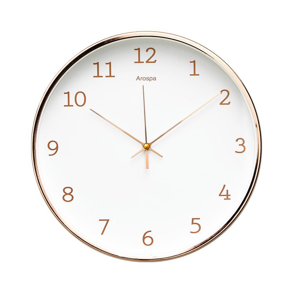 【Lovel】30cm玫瑰金框靜音數字時鐘/掛鐘 共3款《泡泡生活》壁鐘 時鐘 掛鐘