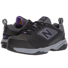 New Balance(ニューバランス) レディース 女性用 シューズ 靴 スニーカー 運動靴 627v2 - Black/Purple 9 EE - Extra Wide [並行輸入品]