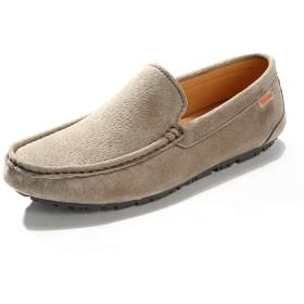 [lsjdln] シューズ カジュアルシューズ ドライビングシューズ メンズ スリッポン ビット ローファー 大人 スニーカー カーキ モカシン チェック 型押し 防滑 軽量 革靴 フォーマル フラットシューズ 人気 靴 トレンド シューズ 24.5cm 靴