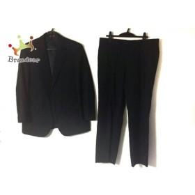 ダーバン DURBAN シングルスーツ メンズ 黒 ストライプ/ネーム刺繍 新着 20190830