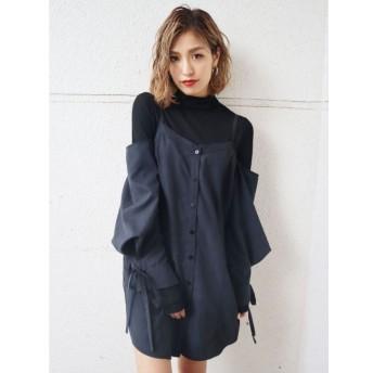【エモダ/EMODA】 スウィッチングシャツトップ