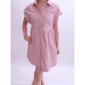 Barbie(バービー)フレアシャツワンピース フレンチスリーブ ピンク レディース Aランク S