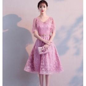 5色入 発表会 同窓会 花嫁 ワンピ 女性 素敵 ブライダル 成人式 Aライン ウェディングドレス ワンピース 大きいサイズ 綺麗 可愛い パー