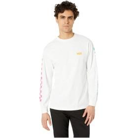 VANS バンズ US企画 CHECKWORK チェックワーク ロンT ロングスリーブ WHITE 白 (XL)