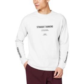[ウィゴー] WEGO シンプル ロゴ プリント ロン ロング T シャツ L ホワイト メンズ