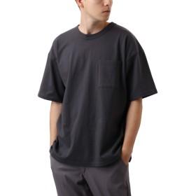 [REPIDO (リピード)] Goodwear ビッグ Tシャツ 半袖 無地 クルーネック メンズ カットソー トップス チャコール Sサイズ