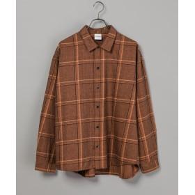 CIAOPANIC(チャオパニック) レディース 綿テンセルビエラチェックシャツ/WEB限定カラーあり ブラウン
