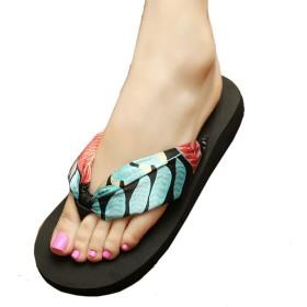 [HSFEO] トングサンダル レディース 厚底靴 ビーチ ミュール 外出スリッパ ビーサン 柔らかい カジュアルシューズ フラット ファッション 軽量 歩きやすい シンプル 大きいサイズ 日常着用 シルク