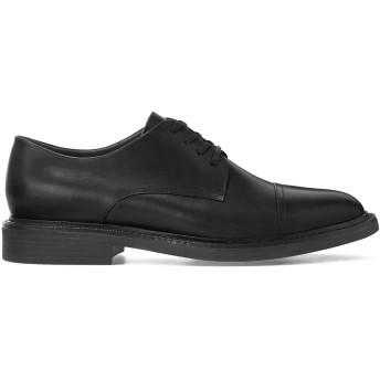 《9/20まで! 限定セール開催中》POLO RALPH LAUREN メンズ レースアップシューズ ブラック 7 柔らかめの牛革 100% Asher Leather Cap Toe Shoe