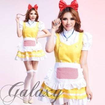 ハロウィン ネコ型メイド ドラミちゃん風ロリータ コスプレ ダンス 衣装 アニメ イベント hq4047(hq4047)