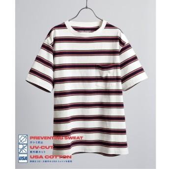 【ジャーナルスタンダード/JOURNAL STANDARD】 【汗染み防止】US COTTON ヘビーウェイト ボーダー Tシャツ