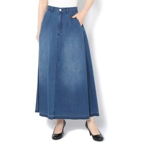 COLONY 2139 綿レーヨンデニム裾カットオフスカート